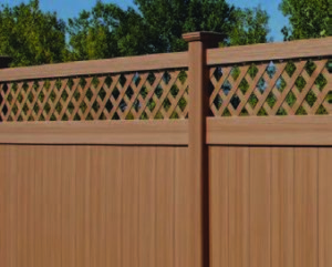 CertainTeeds Bufftech chesterfield certagrain privacy fence