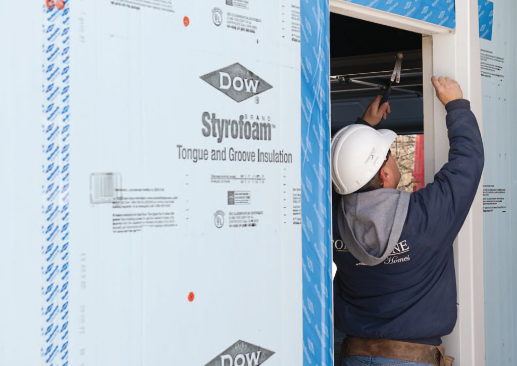 Continuous insulation Dow Styrofoam