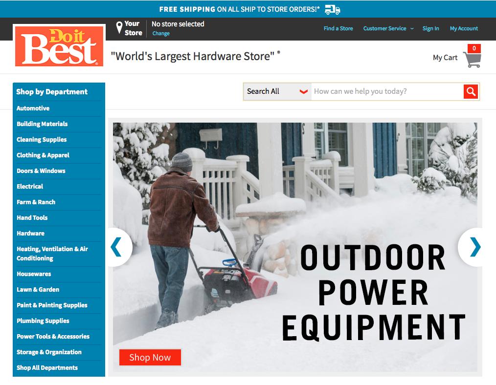 Do it Best Corp.'s new consumer website/ecommerce platform at doitbest.com.