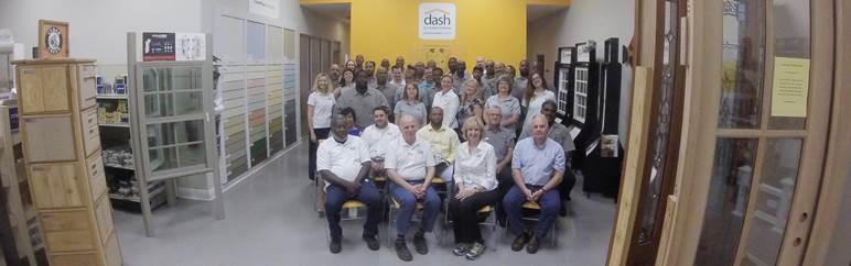 Full staff of Dash Lumber & Supply.