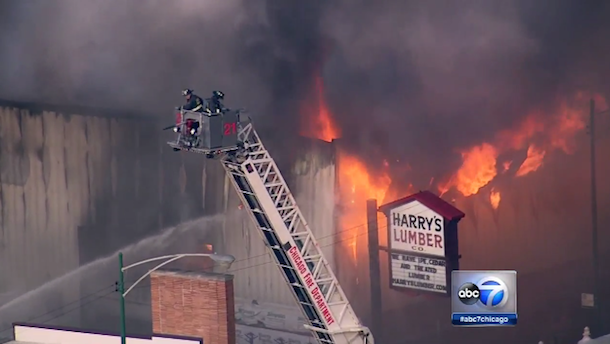 Harry's Lumber Company fire