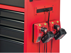 Milwaukee-Storage-Unit---holding-chargers-and-batterys