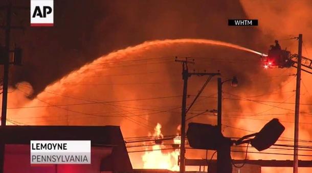 Penn Lumberyard Fire