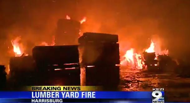 Island Cedar fire