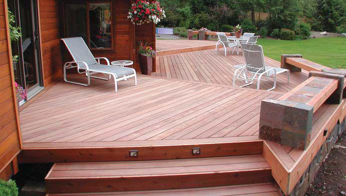 Tigerwood hardwood decking system tigerdeck