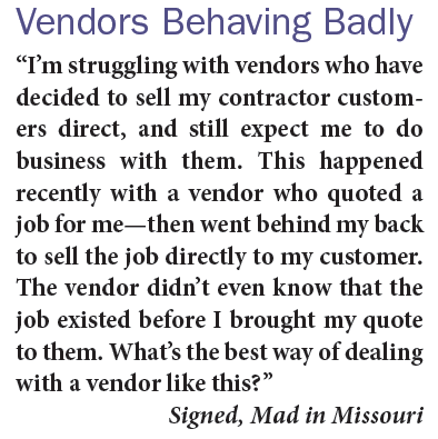 Vendors Behaving Badly Ask The Expert