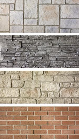 Nu-Wood faux masonary