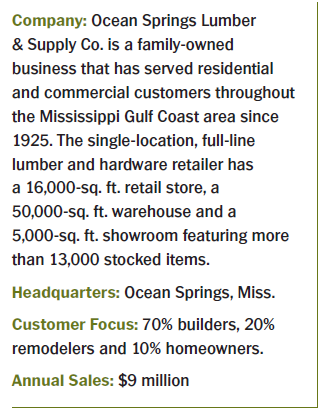 ocean springs lumber and supply company stats